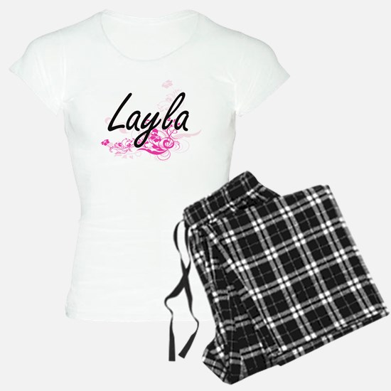 Layla Artistic Name Design Pajamas