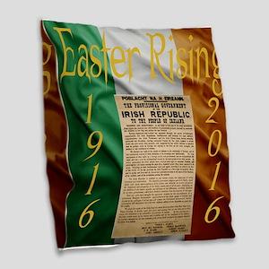 Easter Rising Centenary Burlap Throw Pillow