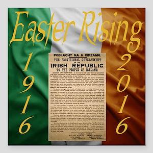 "Easter Rising Centenary Square Car Magnet 3"" x 3"""