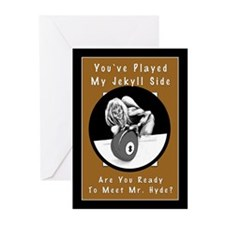 Jekyll Hyde 8 Ball Billi Greeting Cards (Pk of 20)