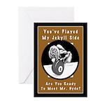 Jekyll Hyde 8 Ball Billi Greeting Cards (Pk of 10)