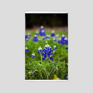 Bluebonnet Flowers Area Rug