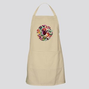 Jacobean Embroidery Flowers Apron