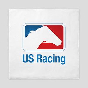 US Racing - Horse Head Slogan, Light Background Qu