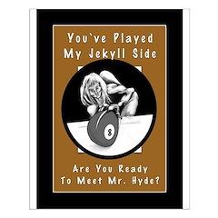 Jekyll Hyde 8 Ball Billiards Posters
