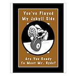 Jekyll Hyde 8 Ball Billiards Small Poster