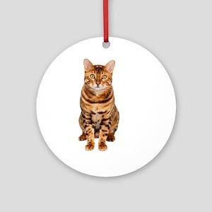 Amazing Bengal Kitten Round Ornament