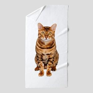 Amazing Bengal Kitten Beach Towel