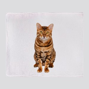 Amazing Bengal Kitten Throw Blanket