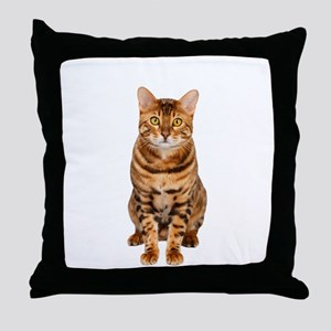 Amazing Bengal Kitten Throw Pillow