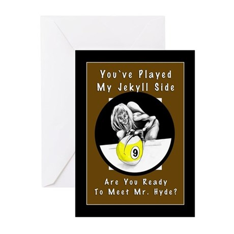 Jekyll Hyde 9 Ball Billiards Halloween Cards (Pk of 10)