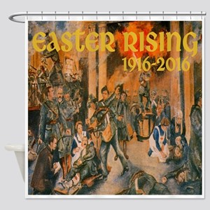 Easter Rising Vintage Shower Curtain