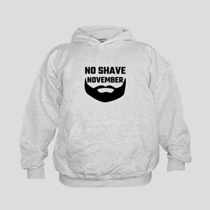 No Shave November Kids Hoodie