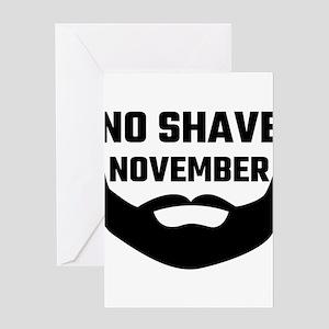 No Shave November Greeting Cards