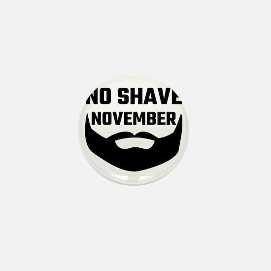 No Shave November Mini Button (10 pack)