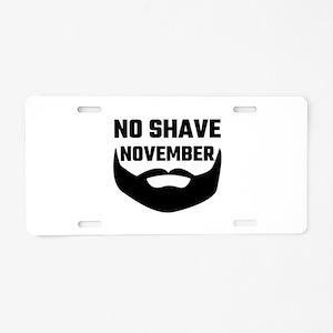 No Shave November Aluminum License Plate