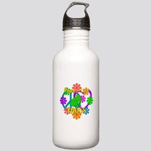 Peace Love Frogs Stainless Water Bottle 1.0L