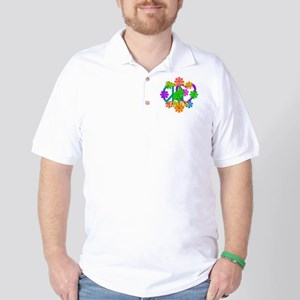 Peace Love Frogs Golf Shirt