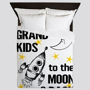 I Love My Grand Kids To The Moon And B Queen Duvet