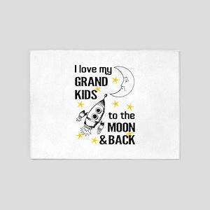 I Love My Grand Kids To The Moon An 5'x7'Area Rug