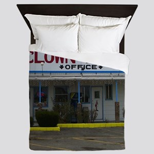 Welcome To The Clown Motel Queen Duvet
