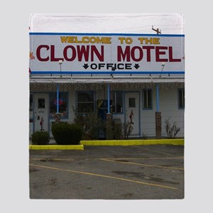Welcome To The Clown Motel Throw Blanket
