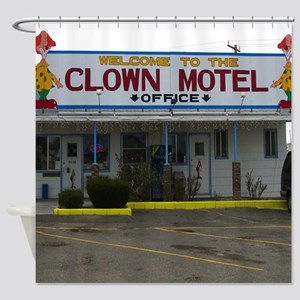 Welcome To The Clown Motel Shower Curtain