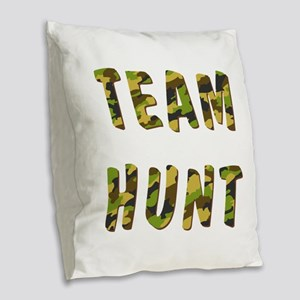 TEAM HUNT Burlap Throw Pillow