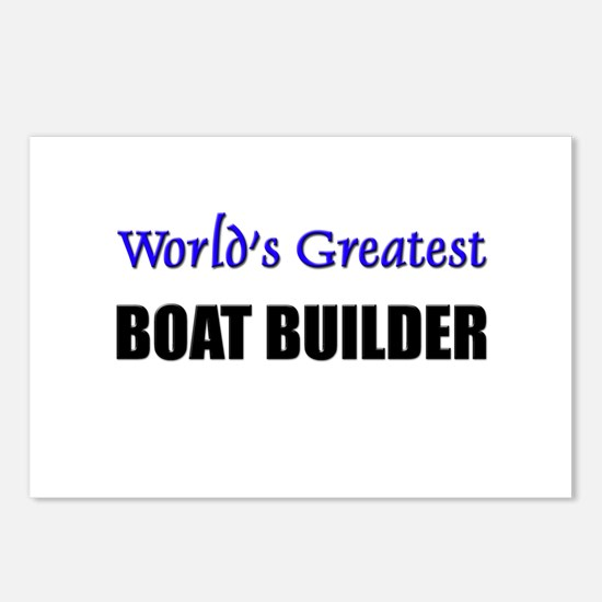 Worlds Greatest BOAT BUILDER Postcards (Package of
