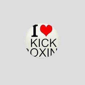 I Love Kick Boxing Mini Button