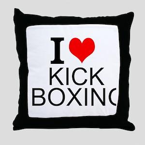I Love Kick Boxing Throw Pillow
