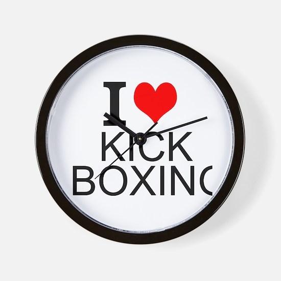 I Love Kick Boxing Wall Clock