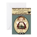 Keep Going Angel Greeting Cards (pk Of 10)
