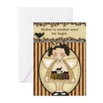 Mother Angel Greeting Cards (pk Of 10)