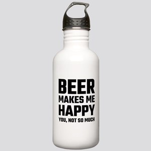 Beer Makes Me Happy Stainless Water Bottle 1.0L