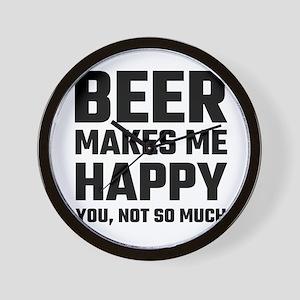 Beer Makes Me Happy Wall Clock