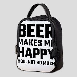 Beer Makes Me Happy Neoprene Lunch Bag