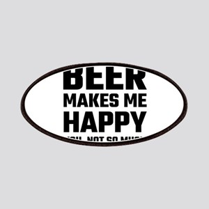 Beer Makes Me Happy Patch
