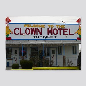Welcome To The Clown Motel 5'x7'Area Rug
