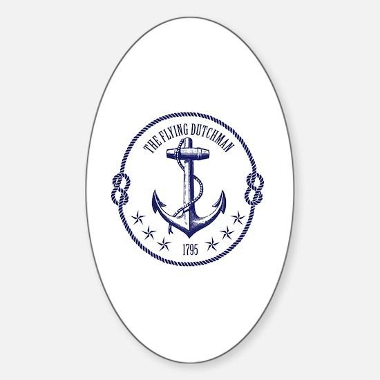Fly Dutch Sticker (Oval)