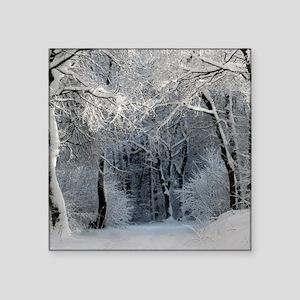 """Winter Square Sticker 3"""" x 3"""""""