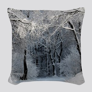 Winter Woven Throw Pillow