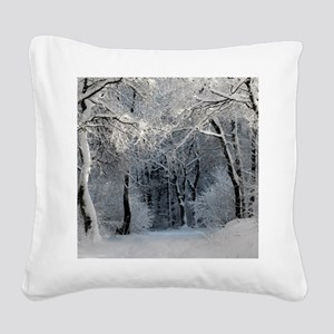 Winter Square Canvas Pillow
