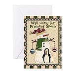 Freezer Snowman Greeting Cards (Pk of 20)
