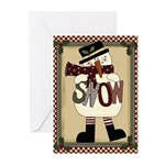 Snow Greeting Cards (pk Of 20)