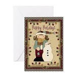 Holidays Snowman Greeting Card