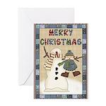 Merry Snowman Greeting Card