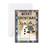 Merry Snowman Greeting Cards (Pk of 10)