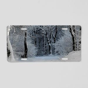 Winter Aluminum License Plate