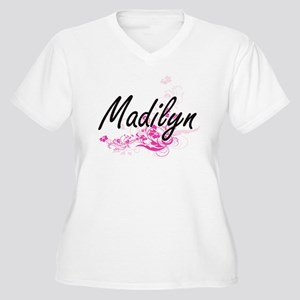 Madilyn Artistic Name Design wit Plus Size T-Shirt